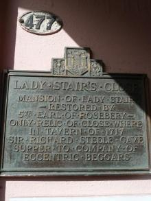 Plaque Lady Stair's Close / Lady Stair's House