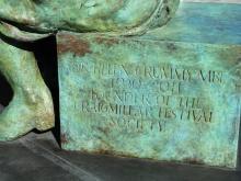 Statue of Helen Crummy at Niddrie Mains Road, Edinburgh