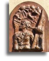 bust in memory of Winifred Joyce Drinkwater