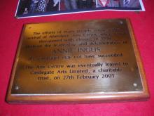Plaque to Annie Inglis
