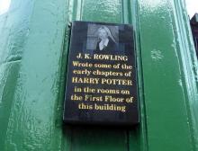 J. K. Rowling Plaque at 2 Nicolson Street