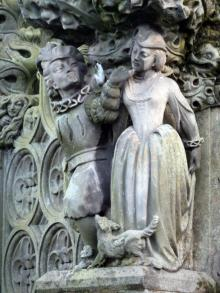 Statue of Lola Irondale within the Palace Yard Fountain, Holyrood Palace