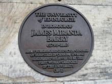 Plaque to James Miranda Barry at Old College, Edinburgh University