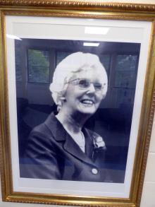 Mary (Molly) Isolen Fergusson photograph at Heriot-Watt University, Riccarton Campus