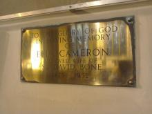 Plaque to Ella Cameron