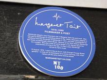 Margaret Tait Temporary Plaque Princes Street Gardens Edinburgh