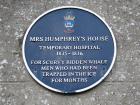 Plaque on 'Mrs Humphrey's House'