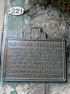 Plaque in memory of Susanna Montgomery/Montgomerie and her seven daughters
