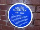 Esmée Fairbairn Plaque at Heriot-Watt University, Riccarton Campus