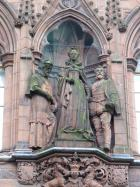 Statue of Mary Queen of Scots on the East side of the Scottish Portrait Gallery